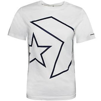 Converse Junior Boys Décrit Star Chevron Tee-Shirt Blanc 968910 001