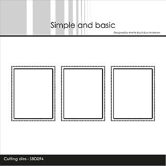 Simple and Basic Cutting Dies - 3 Stitched Windows