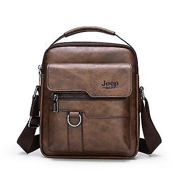 Briefcase Business Leather, Shoulder Messenger Handbag & Laptop Bag