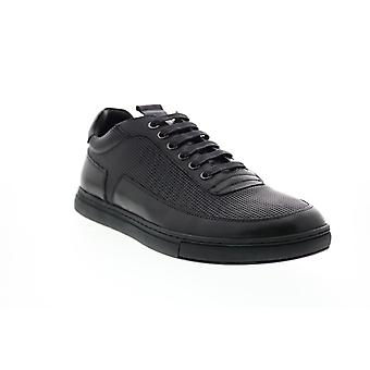 Zanzara Harmony  Mens Black Leather Lifestyle Sneakers Shoes