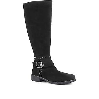 Regarde Le Ciel Womens Roxana 07 Leather Knee High Boots