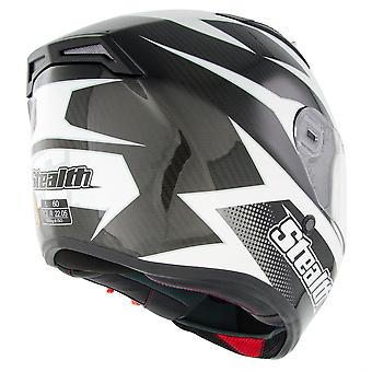 Stealth Helmet HD117 Full Face Carbon Stealth GP Replica Matt Black