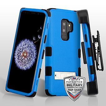 MYBAT Natural mörkblå/svart TUFF hybrid telefon väska (med stativ) (med svart horisontell hölster) för Galaxy S9 plus