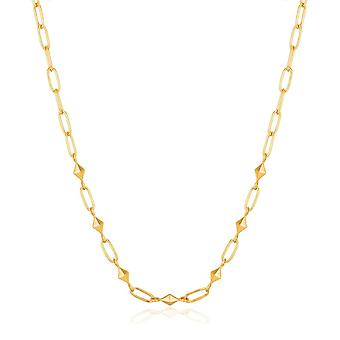 Ania Haie Shiny Gold Heavy Spike Necklace N025-03G