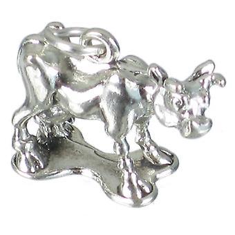 Cow Sterling Sølv Charm 0,925 X 1 Landbrug og køer Charms