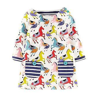 הנסיכה הארוכה שרוול טוניקה חולצת ג'רזי להתלבש, סוסים עיצוב, תינוק