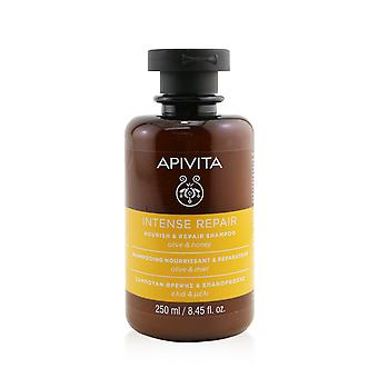 Voimakas korjaus ravitsee ja korjaa shampoo (oliivi ja hunaja) 259839 250ml / 8.45oz