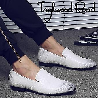 Men Leather Loafer Moccasins Casual Shoe.