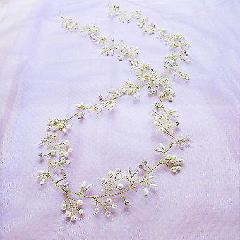 קריסטל פנינה שיער חגורת חתונה קישוטי שיער כלה לחתונה כלות