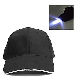 قابل للتعديل دراجة 5 LED بطارية خفيفة كاب مدعوم قبعة في الهواء الطلق قبعة البيسبول