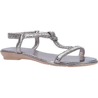 Divaz roxy womens ladies flat sandals pewter UK Size