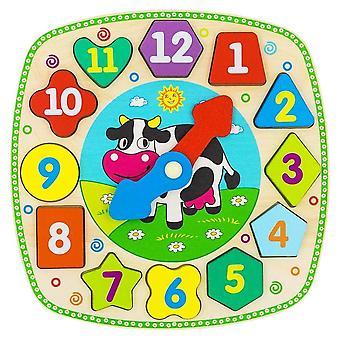 "Alatoys Wooden  Clock ""Cow"""