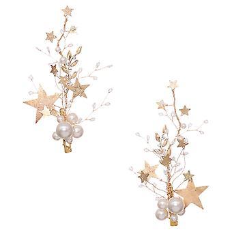 Nunta Bridesmaid Perle Hairpins 2Pcs