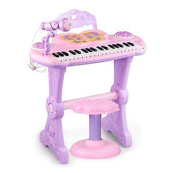 Barn piano tangentbord multifunktionella elektroniska pedagogiska leksak, LED-belysning