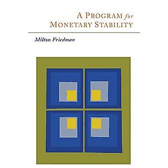 A Program for Monetary Stability by Milton Friedman - 9781614276784 B