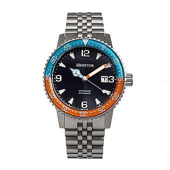 Heritor Dominic Automatic Black Dial Men's Watch HERHR9805