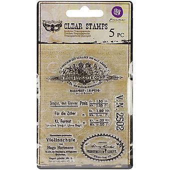 """Prima Marketing Duidelijke Postzegels - Vintage Ijdelheid 3&X4"""""""