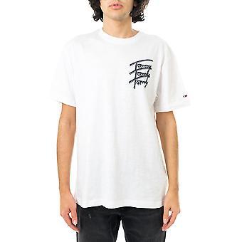 T-shirt homme tommy jeans tjm tommy répéter script tee dm0dm10228.ybr