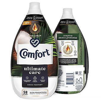 3x of 870ml Comfort Coco Fantasy Ultra Concentrated Fabric Conditioner 58W