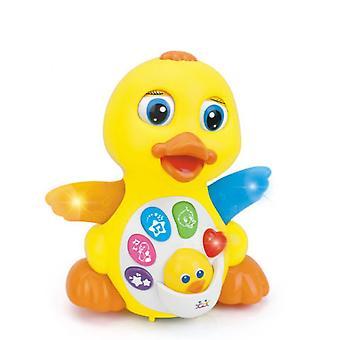 Moni Baby Musikspielzeug gelbe Ente 808, Musik, Licht, Bewegungen ab 18 Monate