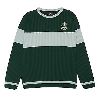 Harry Potter Mens Slytherin Quidditch Knitted Jumper