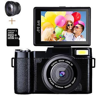 Video Kamera, Döndürülebilir Ekran, Full Hd Anti-shake, Slr Video Kamera, Fotoğraf W /