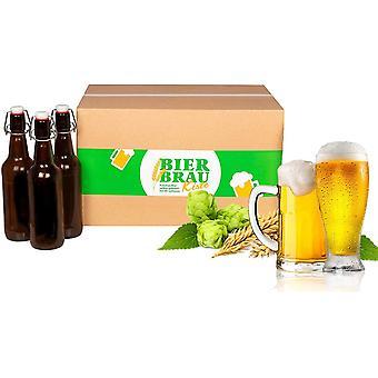 HanFei Braupartner Bierbrauset | BierbrauKiste Flaschen-Version HELLES | zum Bier selber brauen |