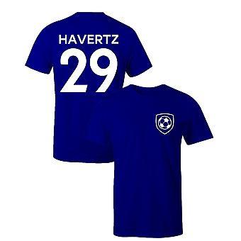 Kai havertz 29 club style kids player football t-shirt