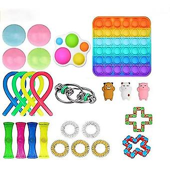 Funny Combination Extrusive Solving Fidget Toys Kids Various Styles Toy Set