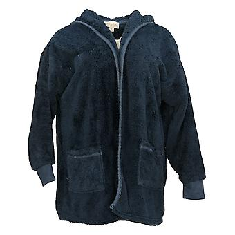 Koolaburra By UGG Women's Sweater Cozy Shaggy Cardigan Blue A386142