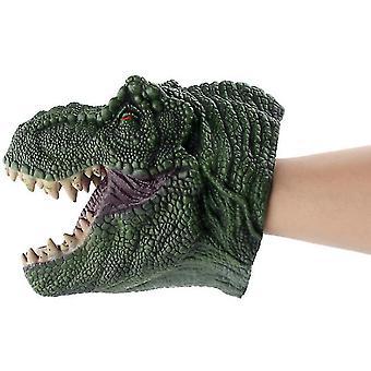 Groene tyrannosaurus dier hoofd hand marionet figuur speelgoed handschoenen voor kinderen dinosaurus hand marionet speelgoed az9027