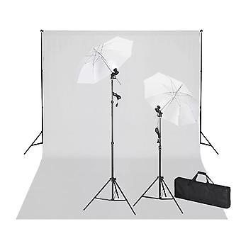 vidaXL Fotostudio-Set mit Weißem Hintergrund 600×300 cm & Leuchten