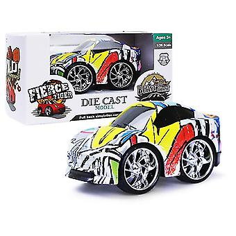 Auton lasten q versio vedä takaisin seosauto, graffiti simulaatio auto malli lelu az18190