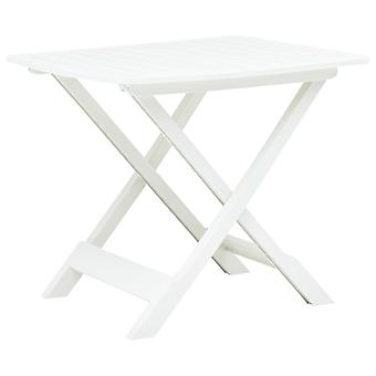 Gartentisch Faltbar 79X72X70 Cm Kunststoff Weiß