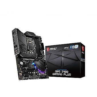 MSI MPG Z490 GAMING PLUS 'ATX, LGA1200, DDR4, LAN, USB 3.2 Gen2, Type C, M.2, DisplayPort, HDMI, Pre-installed I/O Shield, RGB Mystic Light, Gen 4 Ready, 10th Gen Intel Core'