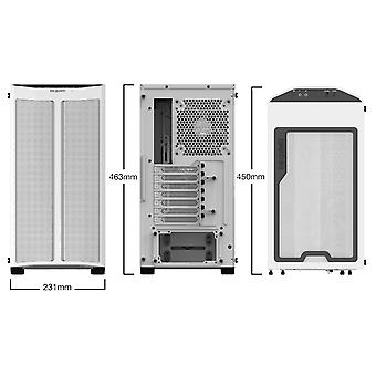 be quiet! Pure Base 500DX ARGB Midi Tower Case - White Tempered Glass