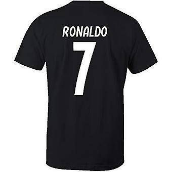 Cristiano ronaldo 7 club style t-shirt black/white