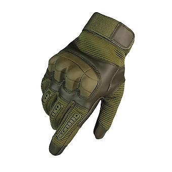 Exército verde s touch screen esportes treinamento não slip gloves homi4388