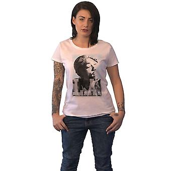 Tupac T Shirt LA Skyline Logo new Official Womens Skinny Fit White