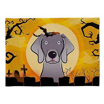 Caroline's Treasures BB1789PLMT Halloween Weimaraner Stoff Tischset, Multicolor