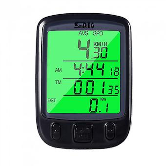 Cycle Bicycle Bike Lcd Computer Odometer Speedometer With Backlight