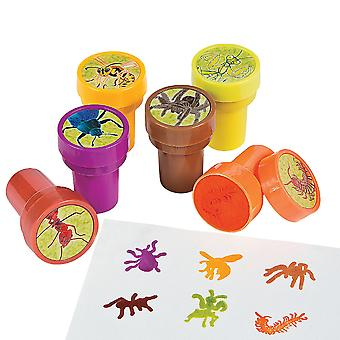 LAST FEW - 24 Ugly Bug Self Inking Stampers for Kids Crafts & Party Bags