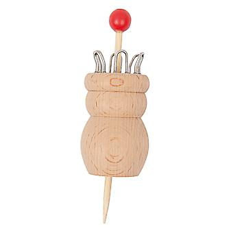 Wooden Knitting Doll - 6 Pegs