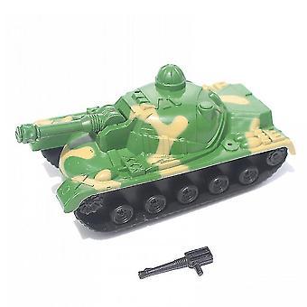 第一次世界大戦軍用戦車モデル、ホイールロータリーフォートバトルフィールドフィギュア(少年14cm用)