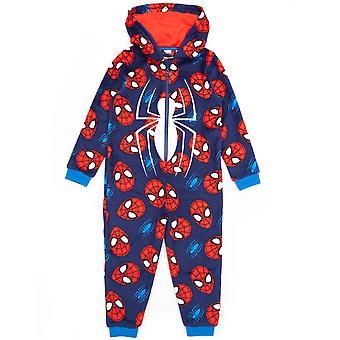 Marvel Pókember Onesie fiúknak | Gyerekek Szuperhős Kék Piros Maszk Pizsama Hálóruha | Képregény ruházati ajándék