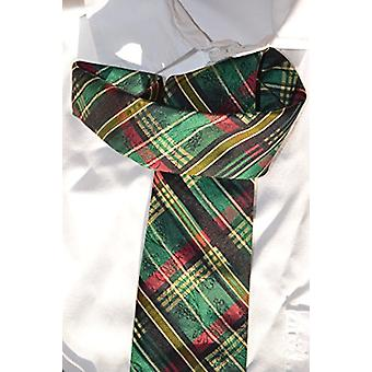 Soie de cravate cravate traditionnelle en costume de mariage robe rouge motif vert Autriche Oktoberfest