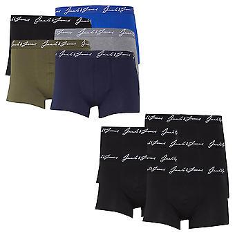 Jack & Jones Miesten 2021 käsinkirjoitettu logo venyttää vyötärönauhaa 5 pack boxer alushousut