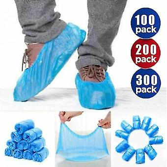 Shoe Covers Disposable Shoe Cover Blue Overshoes Shoe Cover Covers(200pcs)
