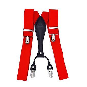 Elegant red suspenders
