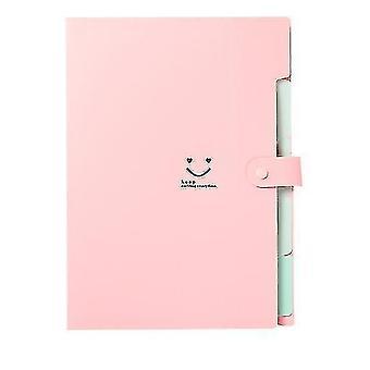 Développement du dossier de fichiers, organisateur de fichiers de document en accordéon (rose)